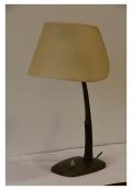 Lampe de bureau en bronze à base gainée de cuir tressé par Kalmar Vienne, vers 1940-1950
