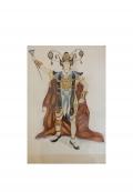 Aquarelle de projet de costume par Léon Bakst, vers 1905-1910