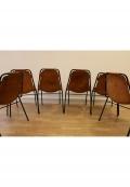 Six 6 chaises Charlotte Perriand pour les Arcs
